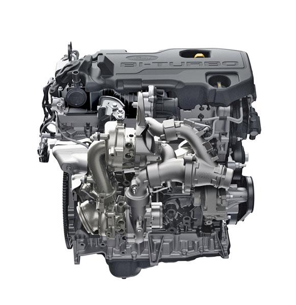 Zcena nový je motor EcoBlue, který vevrcholné výkonové verzi bi-turbo nabídne výkon 157kW/213 k