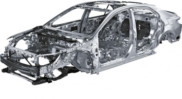 Struktura karoserie je v mezigeneračním srovnání zcela nová a vychází zprincipů platformy TNGA značky Toyota