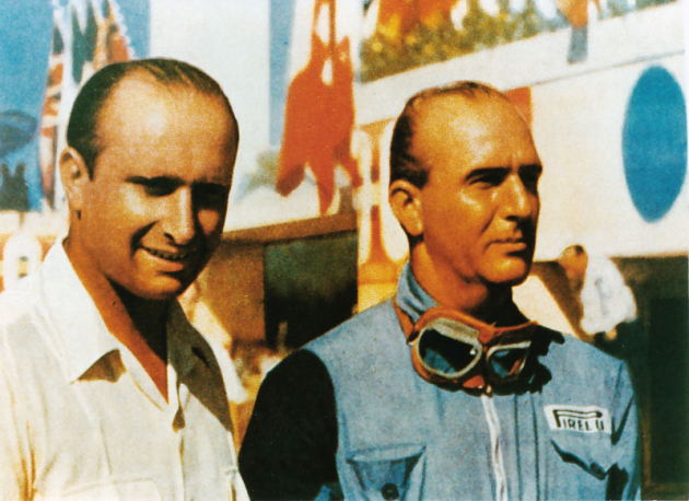 První mistři světa Juan-Manuel Fangio (1951) a Nino Farina (1950)