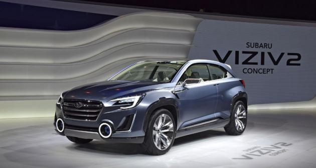 Subaru Viziv 2 (2014) do značné míry formoval designérský styl, jejž Subaru používá na svých současných modelech