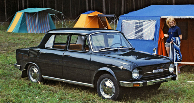Předsériový sedan Škoda 110 L  na snímku pořízeném zřejmě v červnu 1969