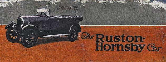 Dobová reklama. Společnost Ruston & Hornsby byla založena v roce 1840 pod názvem Proctor a Burton. V roce 1857 vstoupil do společnosti Joseph Ruston, a ta nyní nese jeho jméno