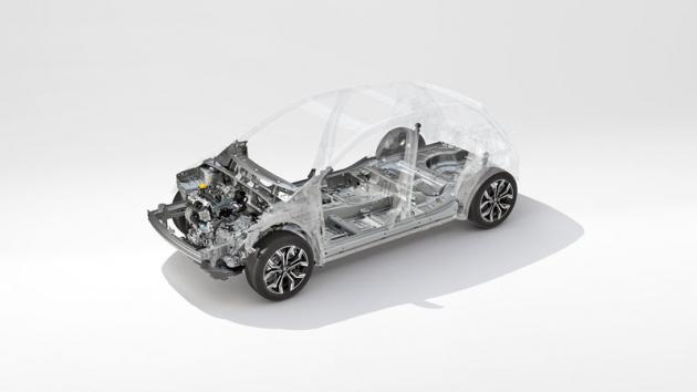 Základem páté generace Clia je nově vyvinutá platforma CMF-B aliance Renault-Nissan-Mitsubishi
