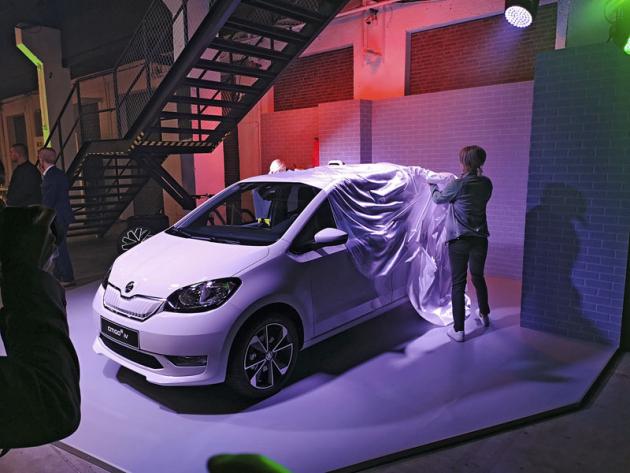 Slavnostní odhalení modelu Škoda Citigo iV proběhlo ve víceúčelovém bratislavském komplexu Refinery Gallery