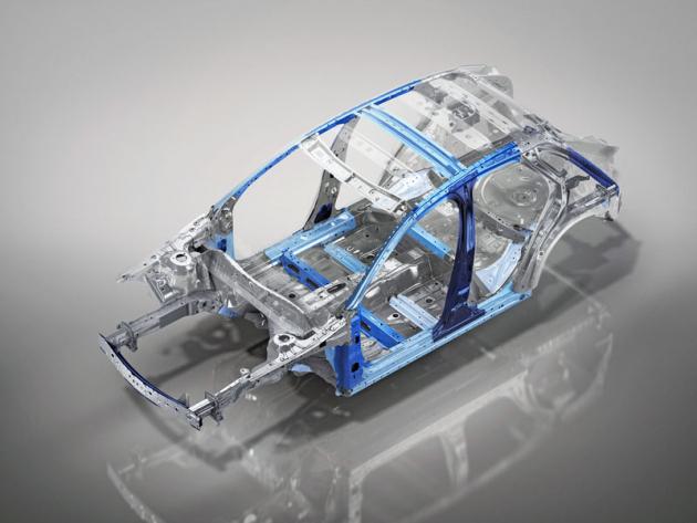 Na samonosné karoserii se v exponovaných místech používají vysokopevnostní oceli různého druhu