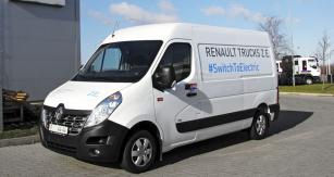 Lehká dodávka Renault Master Z.E. je skříňový elektromobil pro rozvážkový provoz