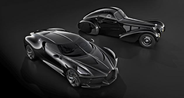 Nejnovější koncept La Voiture Noire spoluspředchůdcem Bugatti 57 SC Atlantic zetřicátých let