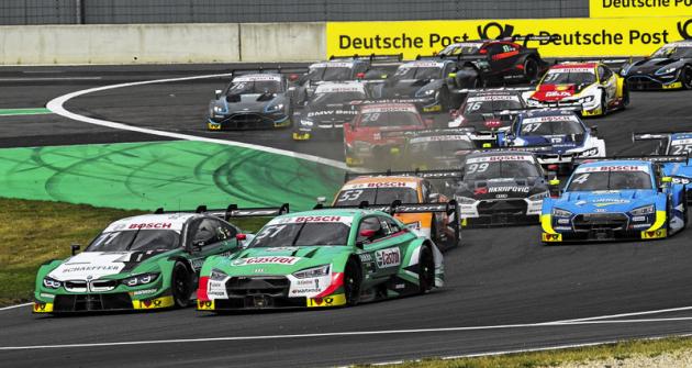 V letošní sezóně dominují šampionátu DTM vozy Audi RS 5 DTM, které svéznačce spředstihem zajistily titul. Zde vtěsném souboji nejlepší jezdec BMW Macro Wittmann (ke konci srpna průběžně třetí) a Nico Müller sAudi (druhý)