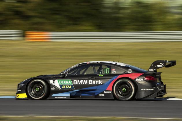 Bruno Spengler za volantem BMW M4 DTM. V DTM má nasvém kontě 191 závodů (ke konci srpna), z nichž 16vyhrál