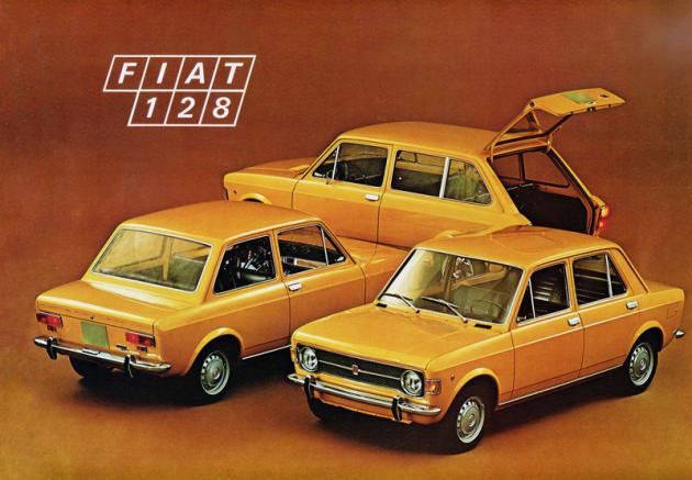 Kompletní rodinka typu 128, uvedená roku 1969 coby dvoudveřový i čtyřdveřový sedan akombi Familiare
