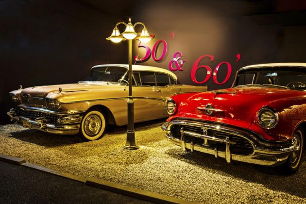 Velké oblibě se těší expozice 50. a 60. let, v níž je k vidění například Buick Super (1958) nebo Oldsmobile Super 88 (1956)