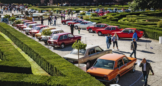 Přelomový typ Fiat 128 letos slaví 50. výročí. V Troji mu byla věnována samostatná část