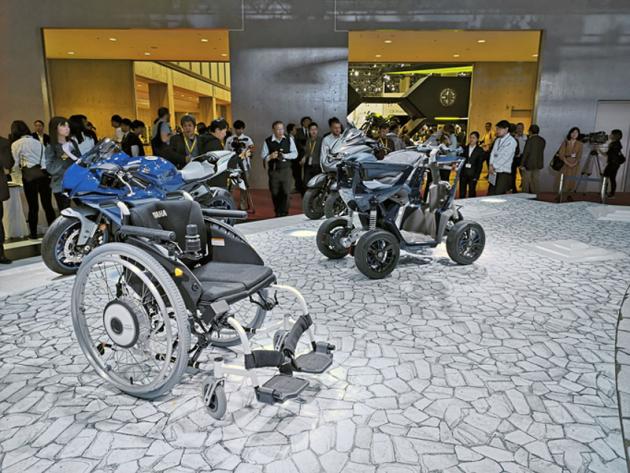 Yamaha se kromě domácí premiéry motocyklu Ténéré 700 soustředila na prezentaci různých vozítek pro hendikepované