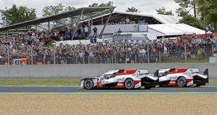 Toyota TS050 Hybrid číslo 7 vyhrála tři závody 2018/2019, ale ovítězství ve 24 h Le Mans přišla pro banální poruchu čidla tlaku vpneumatikách