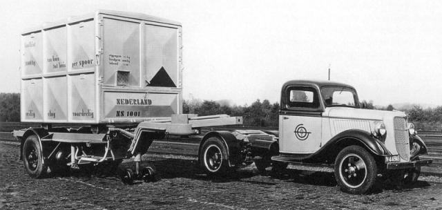 První DAF ještě bez motoru – kontejnerový návěs (1935)