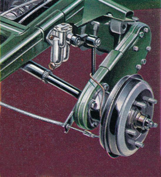 Originální systém odpružení Flexitor skyvnými rameny a pákovými tlumiči