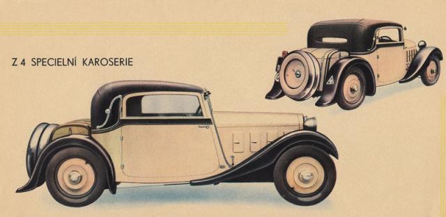 Zakázkový kabriolet Z 4 nabízený vkatalogu druhé série v roce 1933