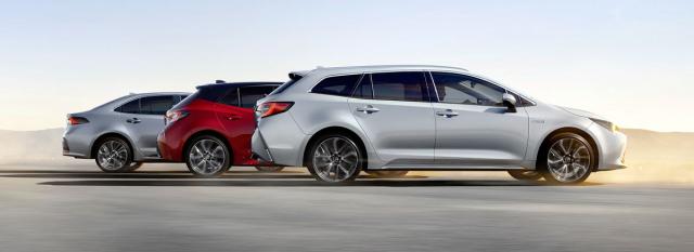 Toyota Corolla se dodává ve třech karosářských verzích