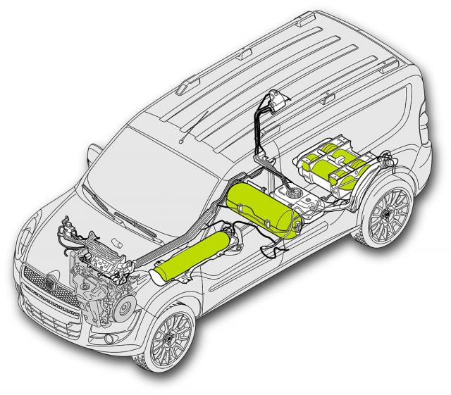 Fiat Doblo CNG je kdispozici se dvěma velikostmi nádrží