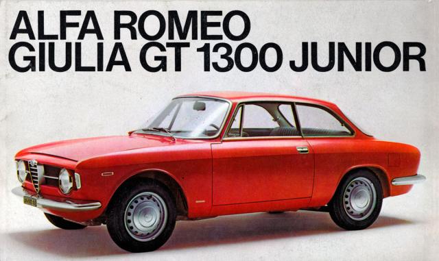 Alfa Romeo Giulia GT 1300 Junior, slavné kupé šedesátých let (1966 – 1968)
