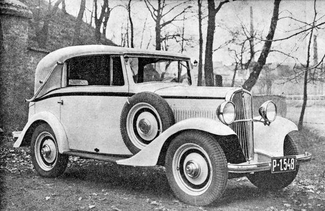Kabriolet Walter Junior karosovaný vysokomýtskou firmou Sodomka (1934)