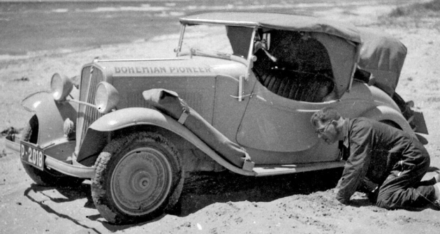Roadster Walter Junior výpravy Bohemian Pioneer do Orientu (1934)