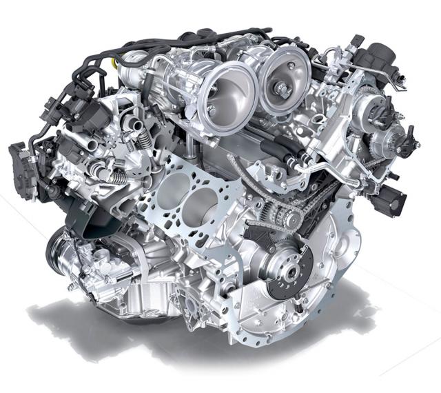 """Verze GTS dostala po modernizaci """"ostřejší"""" motor 2,9 l s dvojicí menších turbodmychadel umístěných mezi řadami válců. Technicky je motor spřízněný s jednotkou ve verzi Macan Turbo nebo třeba Audi RS 4, kde je však naladěný na 324, resp. 331 kW (440, resp. 450 k)"""