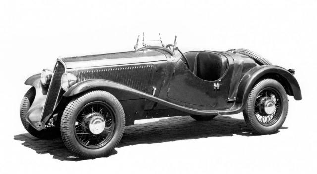 Tovární roadster Walter Junior SS ročníku 1934, vybavený motorem OHV