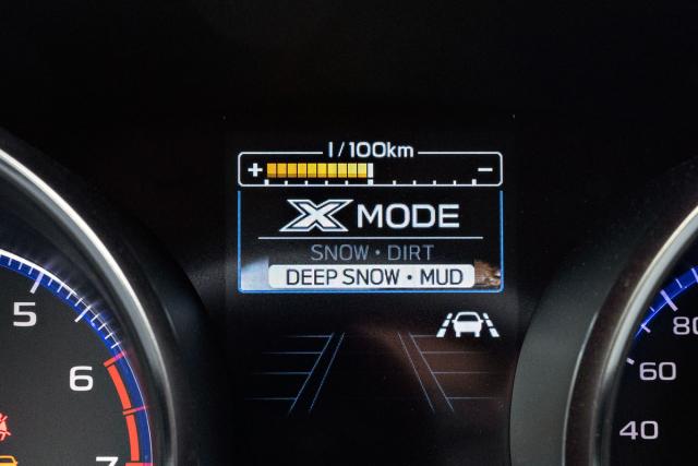 Terénní režim X Mode má po vzoru Foresteru dvě nastavení: pro kluzké tvrdé povrchy a pro měkký podklad