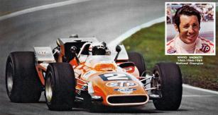Mario Andretti dobyl třetí mistrovský titul Indy Cars v sezoně 1969 (STP Hawk Mk.III Ford V8-159 Turbo)