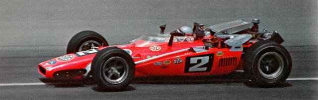 Vítězství v 500 mil Indianapolisu 1969 získal na náhradním voze Hawk, kdyžsrevolučním Lotusem 64 havaroval vkvalifikaci pro technickou závadu