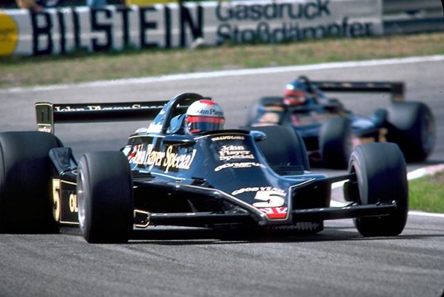 Mistr světa formule 1 v roce 1978 (Lotus 79 Ford-Cosworth DFV)
