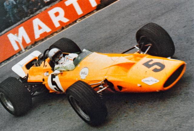 Bruce McLaren od roku 1968 startoval ve formuli 1 svozem vlastní konstrukce