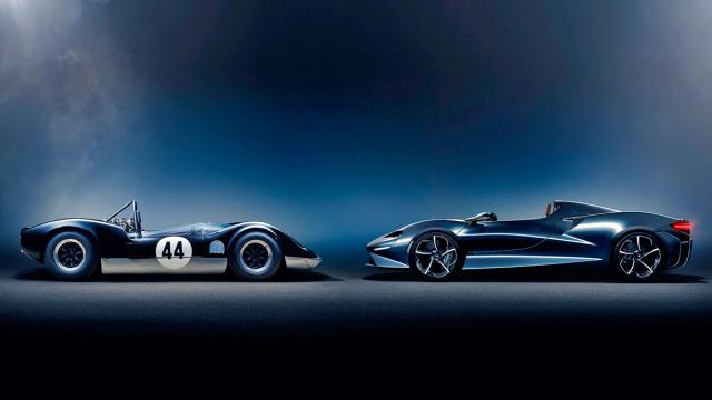 Setkání generací, první McLaren M1 Elva a novodobá kreace McLaren Elva (2020)