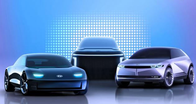 Takto by měly vypadat první tři modely značky Ioniq. Hyundai je představí v průběhu čtyř let