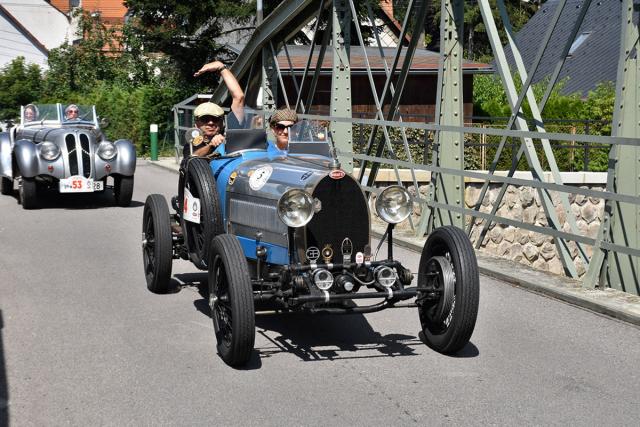 Bugatti T40 zroku 1928 přivezl polský sběratel