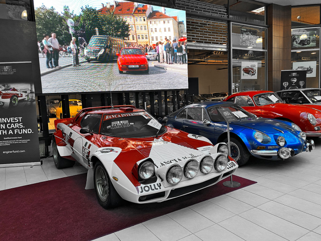 Závodní Lancia Stratos Group 4 patří do portfolia investičního fondu Engine