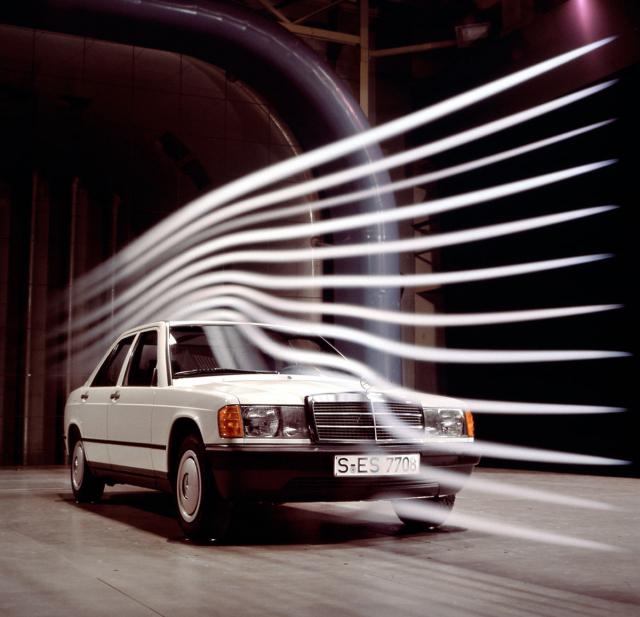Aerodynamický tunel byl ve své době jedním ze znaků progresivního přístupu Mercedesu