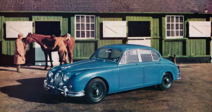 Vozy Jaguar Mk.2 se silnějšími šestiválci XK 3,4 a 3,8 litru odlišovala kola sdrátovým výpletem