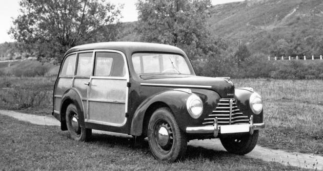 Škoda 1101 STW ve stylu woody karosovaná v roce 1951 v Kvasinách