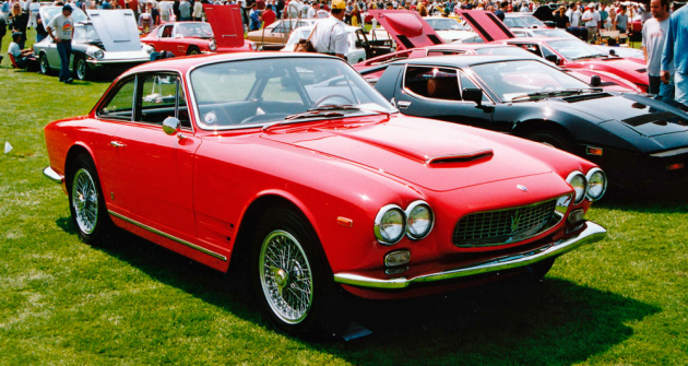 Maserati 3500 GTI Sebring Tipo AM101/S, sportovní vůz se šestiválcem 3,5 litru ve druhé generaci (600 vozů v letech 1962 – 1968)