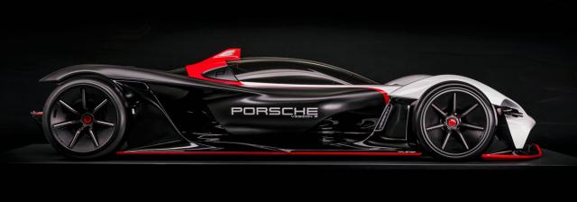 Vision E (2019) ukazuje podobu závodního stroje určeného soukromníkům, vycházejícího zmonopostu Porsche 99X Electric