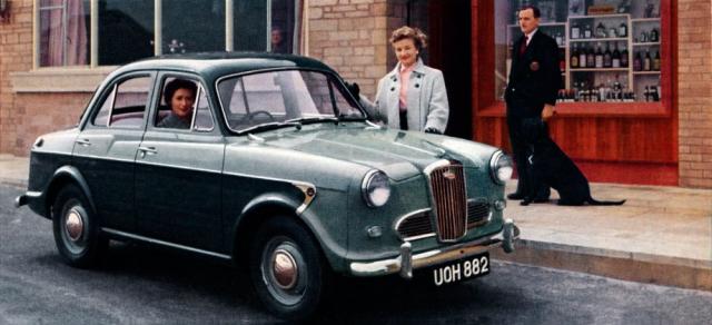 Wolseley 1500 Saloon, poslední typ, jenž neměl karosářskou obdobu v nabídce Austin/Morris (výroba 1957–1965)