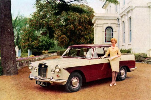 Wolseley 6/110, poslední typ klasické koncepce (1961–1968) s třílitrovým šestiválcem o výkonu 120 koní (88 kW)