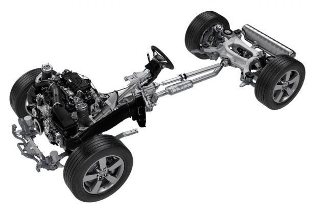 Vzduchové pérování je pro všechny verze nového Defenderu součástí standardní výbavy