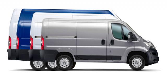 Také elektrická verze Citroënu Jumper je kdispozici v mnoha různých variantách, včetně například pouze povozku určeného pro různé nástavby