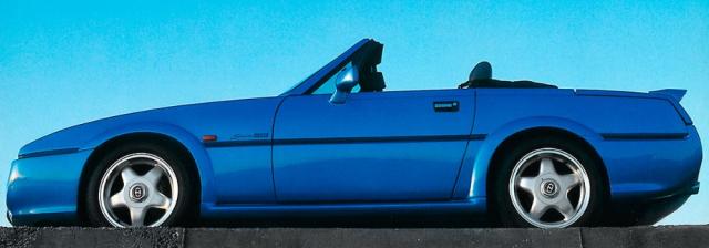 Nástupce Scimitar Sabre, nový sportovní vůz skaroserií podle návrhu Michelotti (na snímku poslední model 1995)