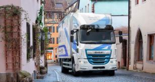 DAF LF Electric proměstskou rozvážkovou dopravu