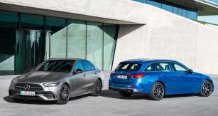 Výchozí tříprostorový sedan třídy C vyniká jednoduchými tvary. Také zvenčí připomíná velkou třídu S