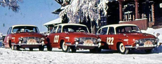 VKopřivnici byly připraveny pro Rallye Monte-Carlo tři Tatry T 603